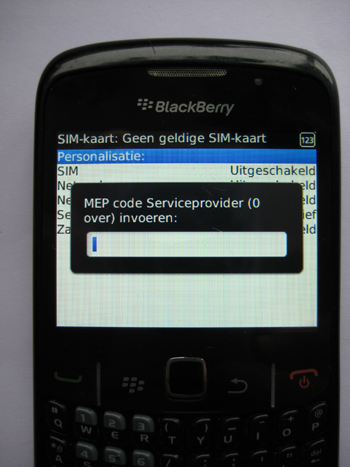 Blackberry mep unlock counter geblokkeerd